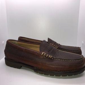 LL Bean Size 13 Dark Brown Leather Slip loafer